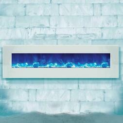 Amantii Wall Mount/Flush Mount 72-In Electric Fireplace Whit