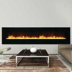 Amantii Wall Mount/Flush Mount 88-In Electric Fireplace Blac