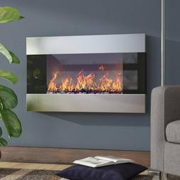 Wall Mounted Electric Fireplace Heater LED Flames Heat Remot
