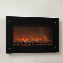Wall-mounted Electric Fireplace, Black