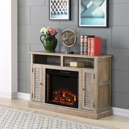 Wiltshire Electric Fireplace TV Stand Burnt Oak, For TV's up